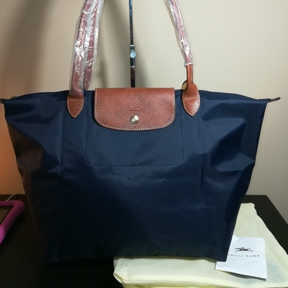 Longchamp Le Pliage Medium Tote Navy Blue ed6bcecea2823